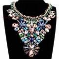 2015 Año Nuevo Partido de La Manera Collares Para Las Mujeres 2014 Del Encanto de La Joyería Torques Declaración de Cristal Colgantes Gargantillas Collares de Vestir