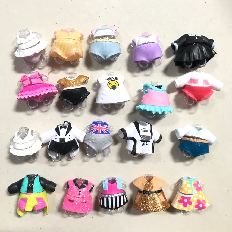 10pcs/set Different Style Fashion LOL Doll Original Accessories Clothes Toys DIY Lol Original Clothes Doll Accessories Girl Gift