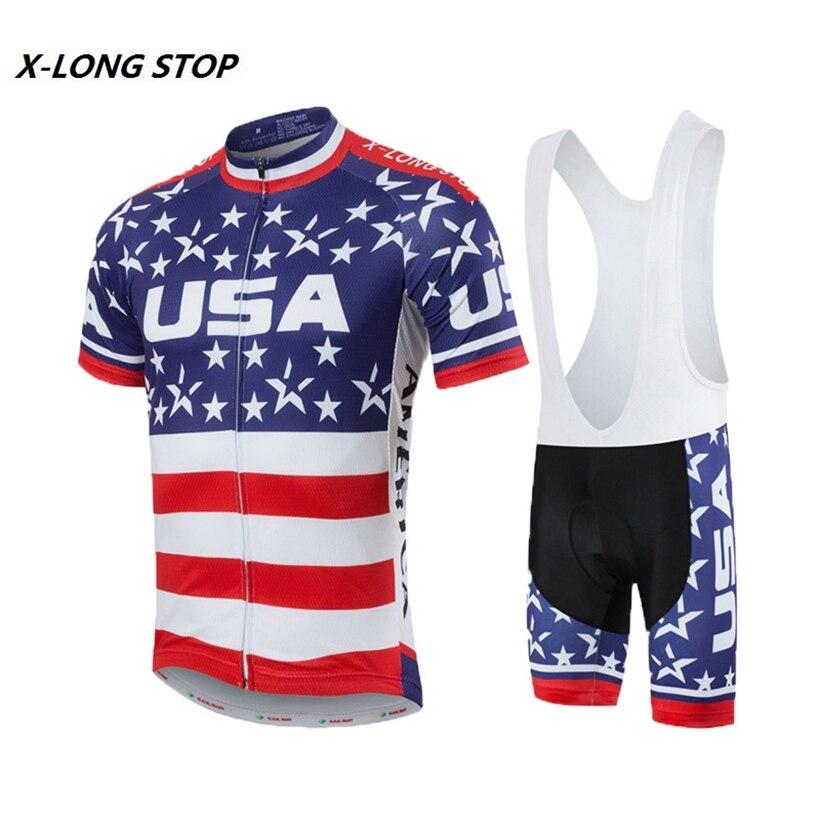 ⑦Men s Cycling Clothing Set Bike Jersey (bib)shorts kit Maillot ... 7f2200065