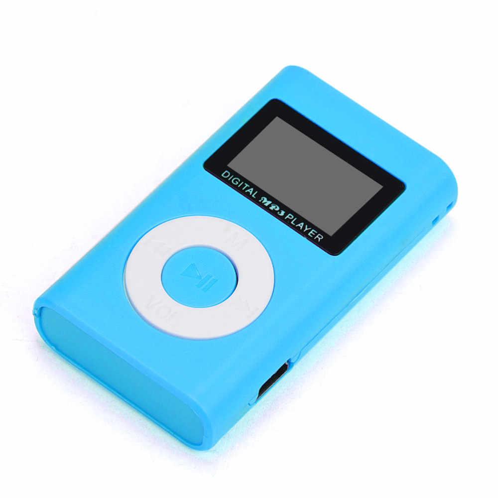 USB Mini MP3 odtwarzacz podpórka ekranu LCD 32 GB Micro karta SD TF RedGH7.4