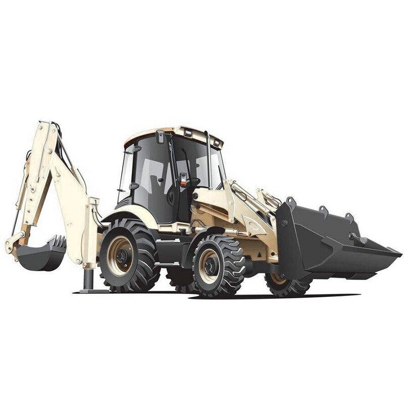 KAIDIWEI Legierung Diecast Bagger 1:50 Zwei-weg Gabelstapler Bulldozer Zurück Hoe Loader schaufel Modell Für Kinder Geschenk Spielzeug