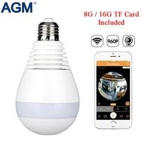 LED Bulb Light 360 Degrees 960P WiFi Panoramic Camera Smart Home LED Lamp Wireless IP Camera