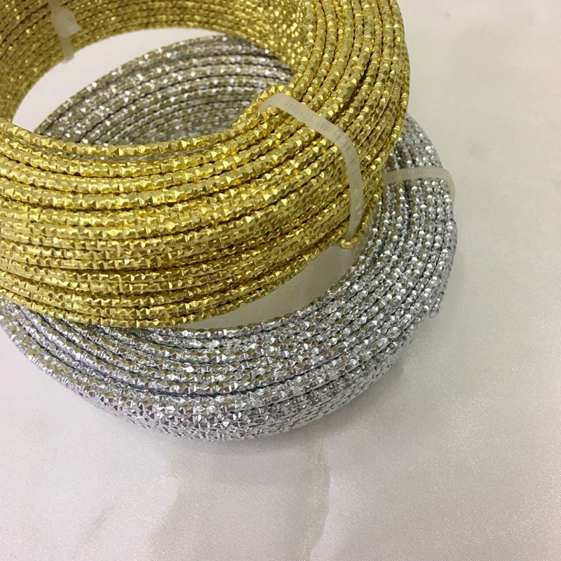 2.0MM/w 30M Gold/Silver Color Metal Aluminium Wires Ropes DIY Jewelry Wire Jewelry Findings