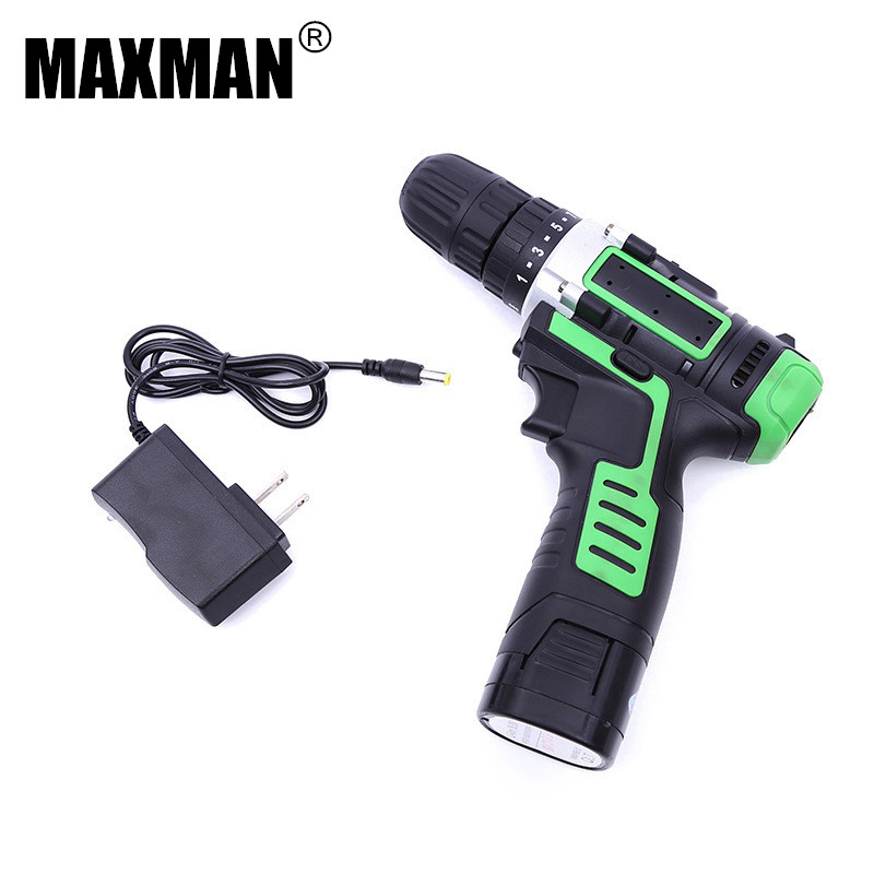 MAXMAN 12V DC Electric Drill Dremel Household DIY Lithium-Ion Battery Cordless Drill Driver Mini Drill Power Tool Woodwork drill buddy cordless dust collector with laser level and bubble vial diy tool new