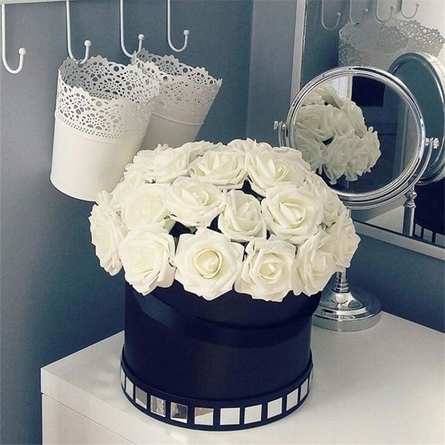 10 Pcs Real Touch Kunstmatige Bloem Latex Rose Flower Kunstmatige Boeket Nep Bloem Bruidsboeket Versieren Bloemen Voor Bruiloft