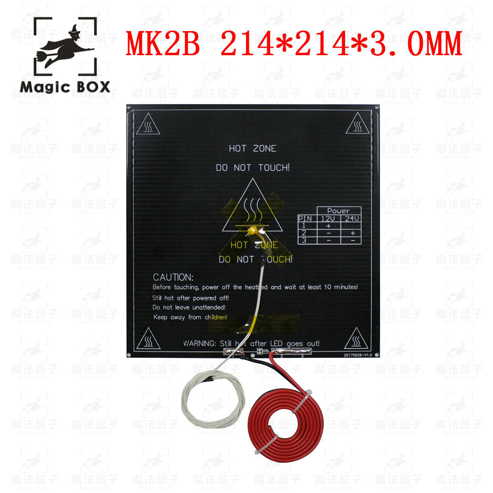 3d Printers & 3d Scanners Devoted Mk2b 214*214*3.0mm Reprap 3d Printer Parts Pcb Mk3 Alu-heatbed+led+resistor+cable+100k Ohm Thermistors Diameter Like Mk2b As Effectively As A Fairy Does