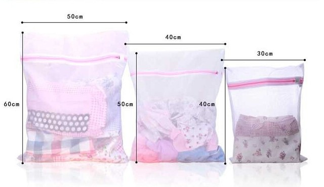 3 Sizes Mesh Laundry Wash Bags 2