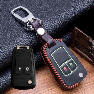Image 4 - Custodia protettiva per portachiavi in pelle luminosa cucita a mano per buick Chevrolet Cruze Aveo TRAX Opel Astra Corsa Meriva Zafira Antara