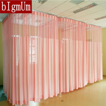 Free Shipping Hospital Curtains Solid Color Room Divider For Beauty Shop /Welfare Homes
