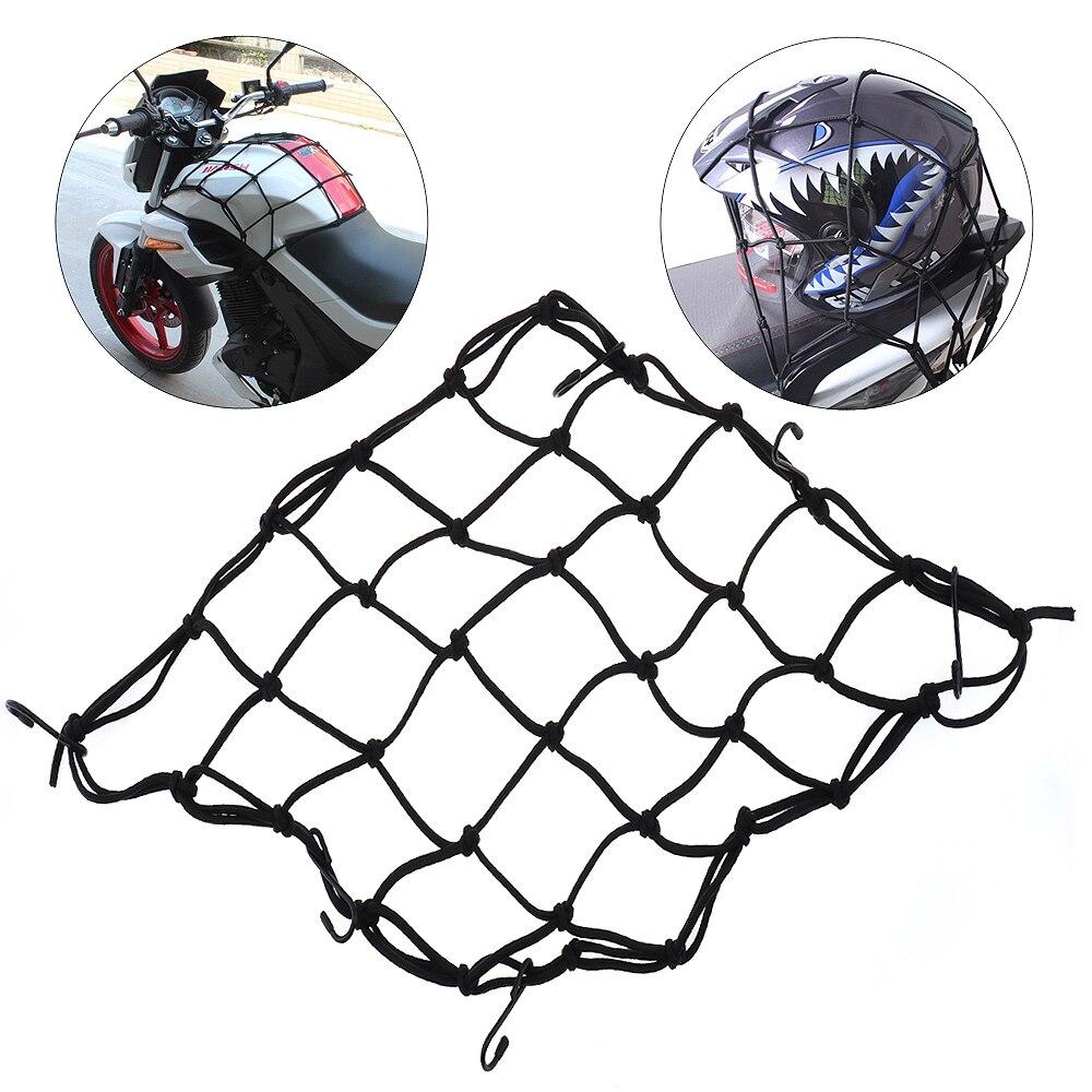 40x40 см высокая прочность упругий канат Универсальный бак мотоцикла и багажная сетка с 6 Крючки и жесткой сетки для верховой езды