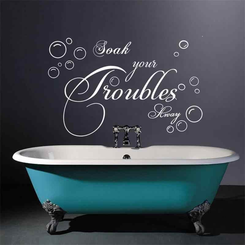 "detail feedback questions about bathroom wall sticker lettering""soak"