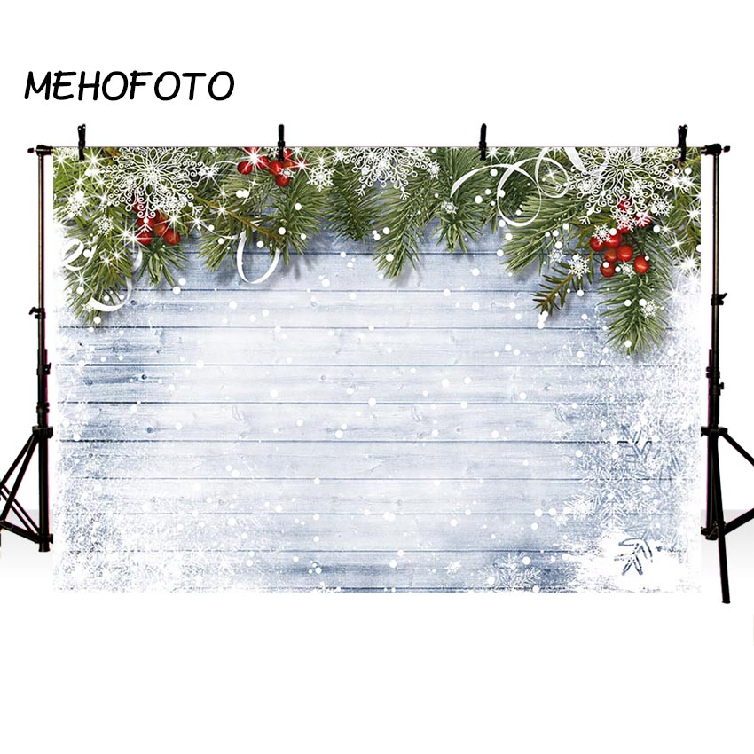 Photo Studio Background Christmas Snow White Wood Floor Winter Snow Scenery Photography Backdrop Photocall Photobooth Printed allenjoy christmas kitchen background wood for photo studio child cook backdrop photobooth photocall photography photo shoot