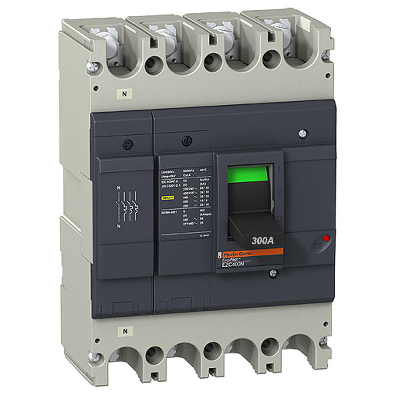 EZC400N4300 Circuit Breaker Easypact EZC400N 4P 300A 36KA 400/415V three phase four wire earth leakage circuit breaker dz20le 400 4300 4p 350a black