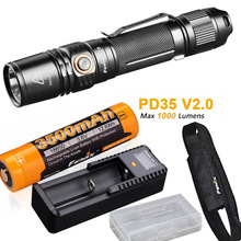 Fenix PD35 V2.0 2018 обновления 1000 люмен фонарик с ith ARB-L18-3500 18650 Батарея, ARE-X1 + зарядное устройство, чехол, Батарея случае