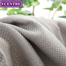 YCENTRE Grey Faux Linen Solid Color Blackout Curtain Window Treatment Drape Modern Style Curtains Blinds for Bedroom Living Room