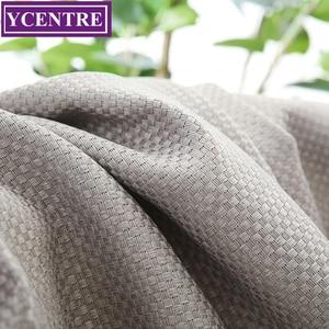 YCENTRE Grey Faux Linen Solid