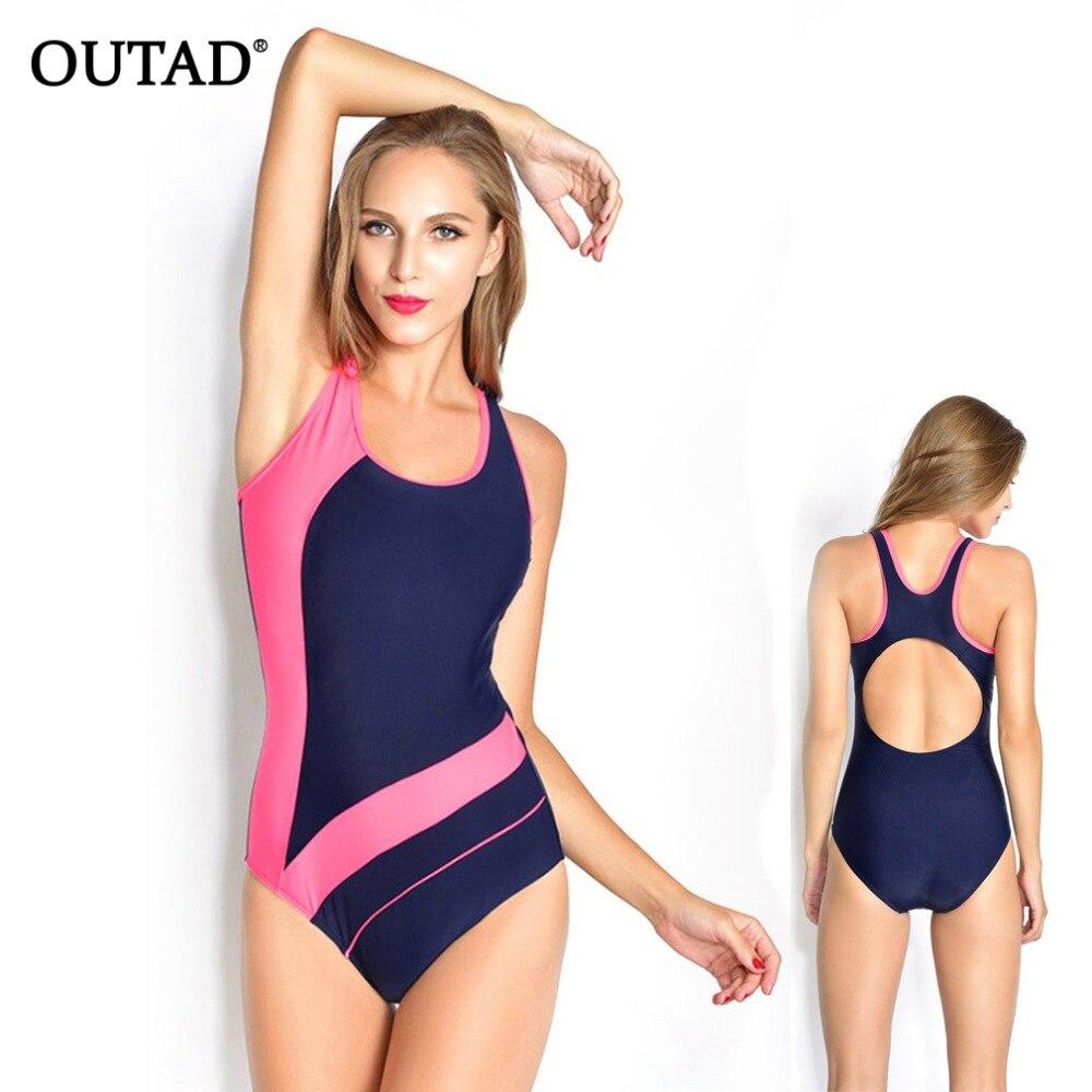 d5486b6440 OUTAD Summer Swimming Suit Backless Women High Elasticity Bikini Swimwear  Beachwear Swimming Pool Sports Tight Fast Dry