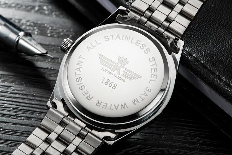 Kingnuos Tops Luxury Brand Men Full Stainless Steel Business Watches Men's Quartz Date Clock Men Wrist Watch relogio masculino 14