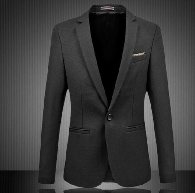 Men's Suit Jackets Fashion Business One Button Casual Blazer Suit Slim fashion style leisure friends party men suit jacket