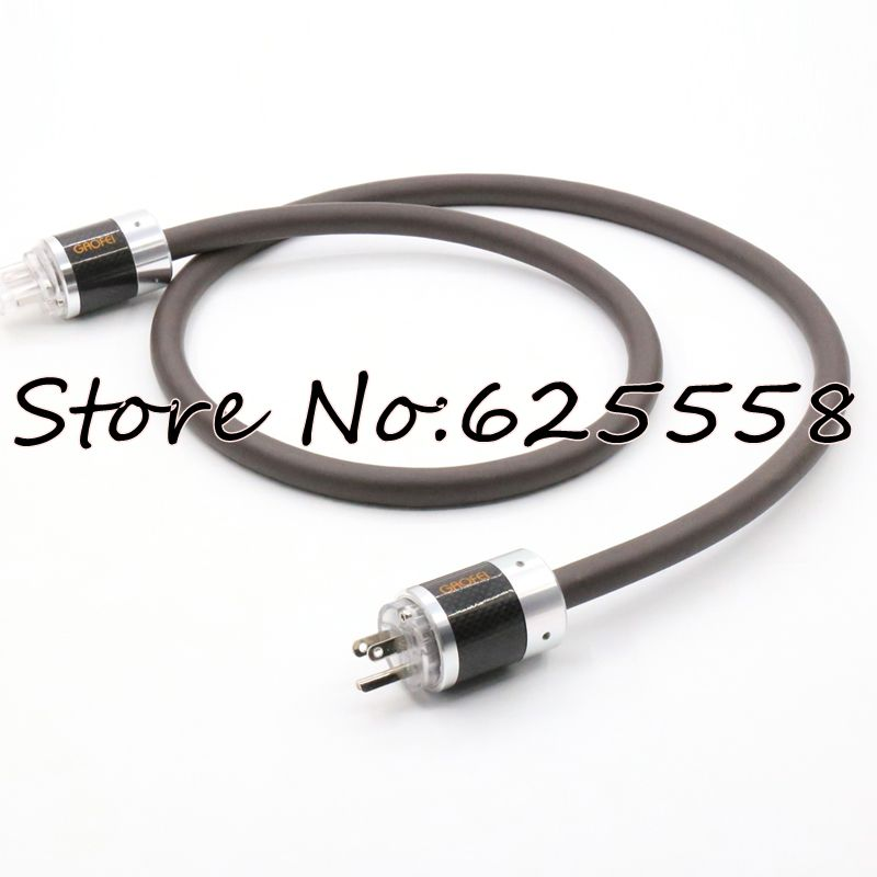 Hifi power cable with EU/US version connector plug Viborg Audio Power Cable Cord with Yarbo power cable  viborg audio power cable us ac power cord cable 2m high quality hi end us plug cable