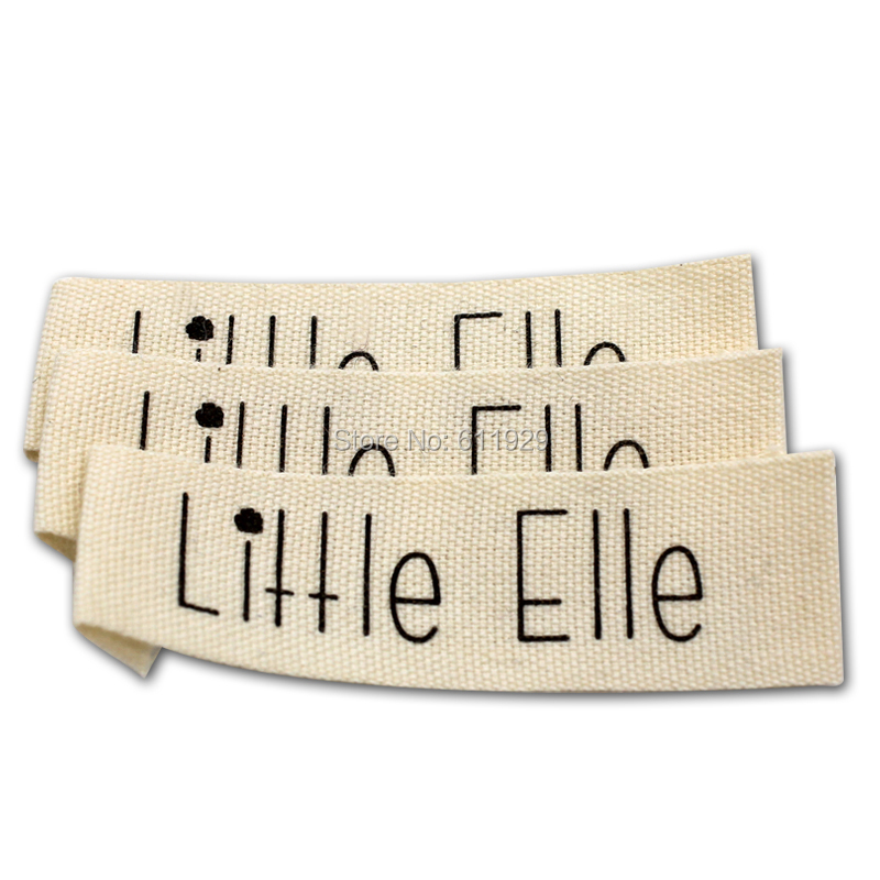 Customized garment clothing labels/printed cotton label/Trademark manufacture woven&printed tags/collar labels Free Shipping ...