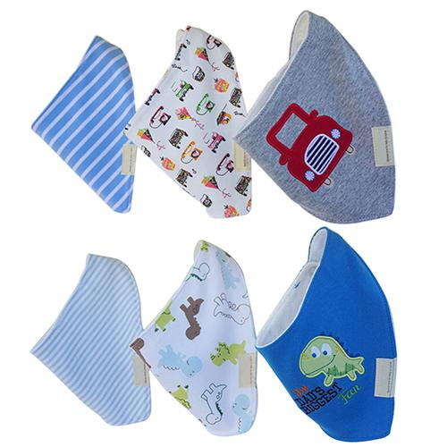 3Pcs Baby Boys Girls Bibs Toddler Bandana Triangle Head Scarf Cute Saliva Towel