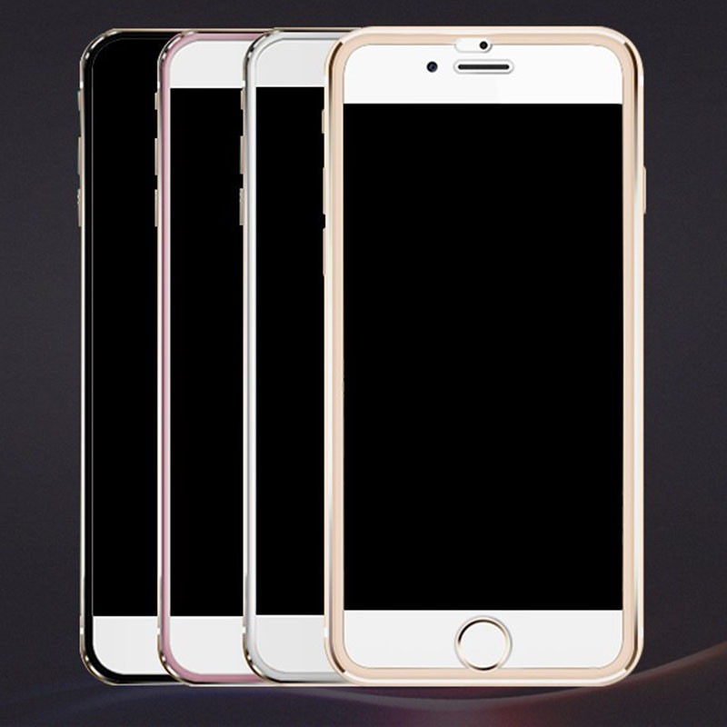 Image 5 - 7D Aluminum Alloy Tempered Glass For iPhone 6 6S 7 Plus Full Screen Protector Protective On The For iPhone X 8 5 SE 5S Glass-in Phone Screen Protectors from Cellphones & Telecommunications