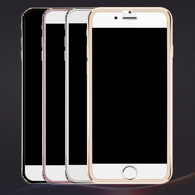7D Aluminum Alloy Tempered Glass For iPhone 6 6S 7 Plus Full Screen Protector Protective On The For iPhone X 8 5 SE 5S Glass