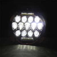 High Quality Round 7inch 75W LED Headlights Daytime DRL Hi Lo Beam F 97 16 Jeep