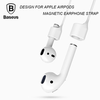 Baseus Magnetic Strap For Apple Airpods Bluetooth Earphone Silicone Anti Lost Strap Loop String Rope For Air Pods Headset