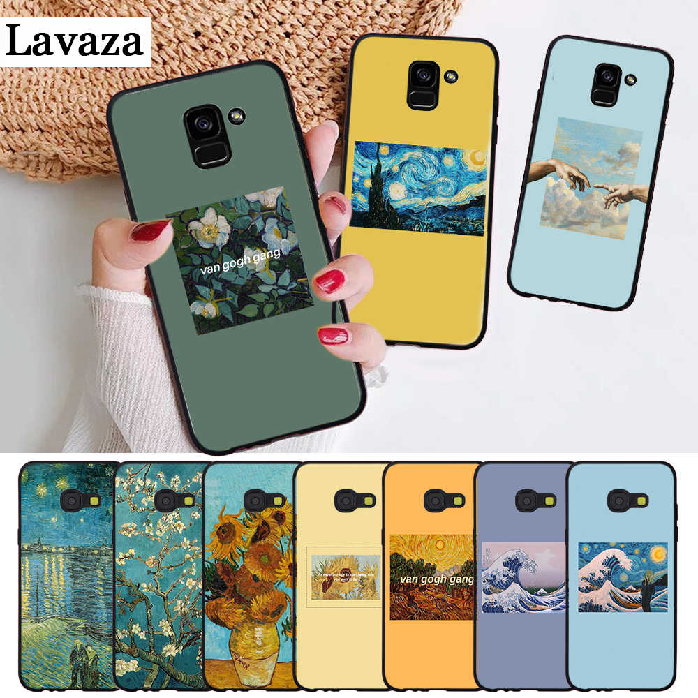 Lavaza Great Art Painting Van Gogh Silicone Case for Samsung A3 A5 2016 2017 A6 Plus 2018 A7 A8 A9 A10 A30 A40 A50 A70 J6
