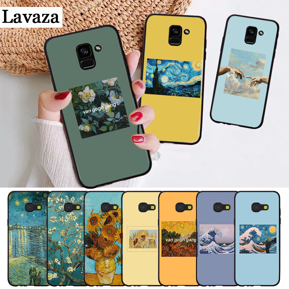 Lavaza Great <font><b>Art</b></font> Painting Van Gogh Silicone <font><b>Case</b></font> for <font><b>Samsung</b></font> A3 A5 2016 2017 A6 Plus 2018 A7 A8 A9 A10 <font><b>A30</b></font> A40 A50 A70 J6 image