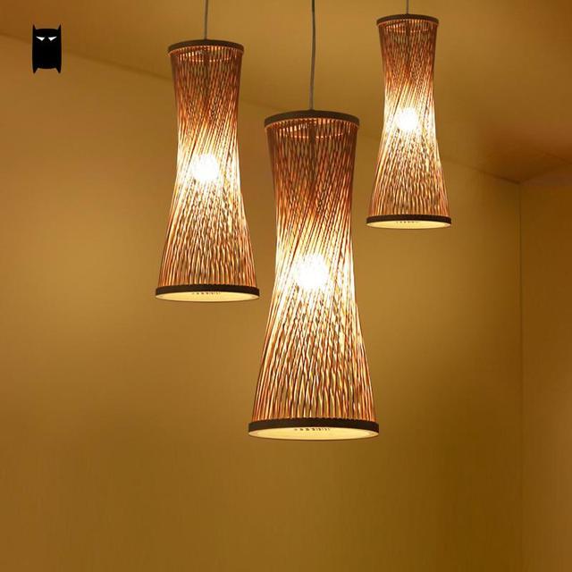 bamboo wicker rattan bugle shade pendant light fixture rustic rh aliexpress com hanging lamp shade designs hanging lamp shade designs