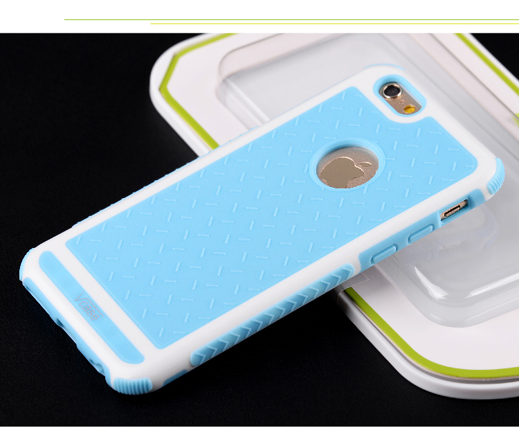 Prevent slippery/ Anti falling down TPU+PC mobile phone sets of mobile phone protection Case For iphone6 Plus /6S Plus