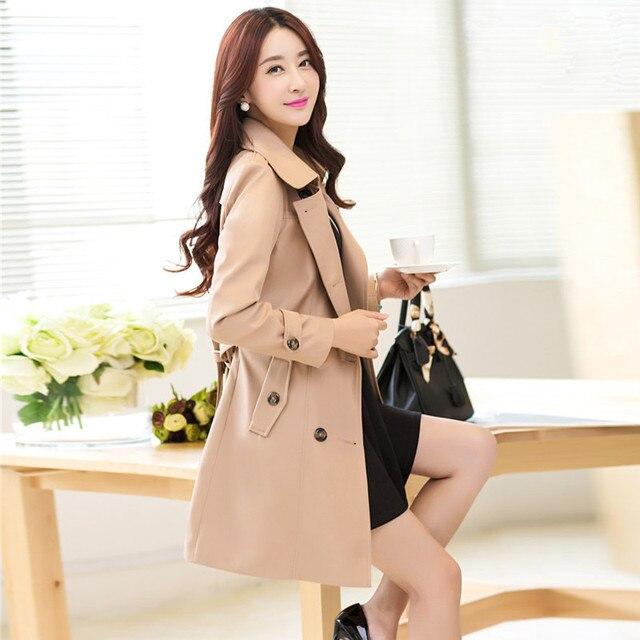 Пальто для женщин весна осень и зиму пальто хаки и черный верхняя одежда 33982 плюс размер m-4XL
