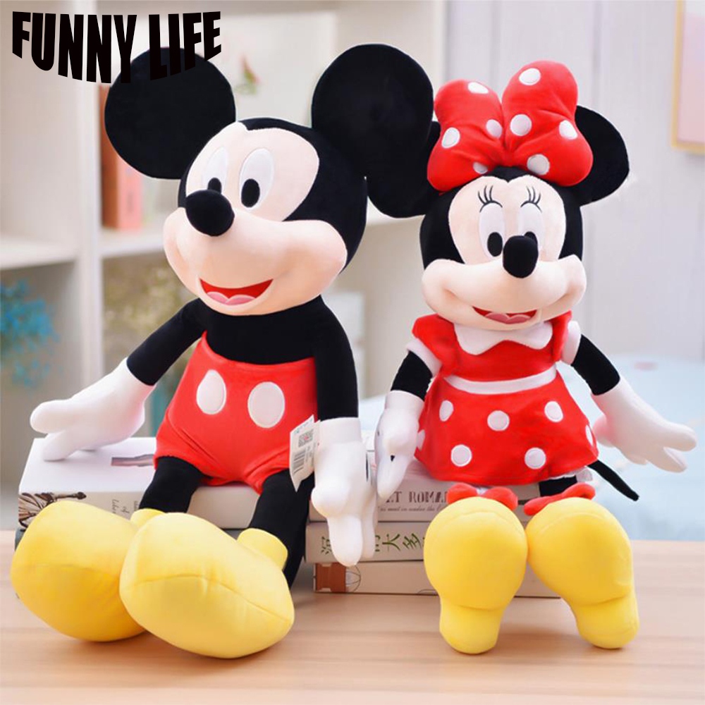 50cm High Quality Stuffed Mickey Mouse Minnie Mouse Plush Toy Dolls Birthday Gifts For Kids Baby