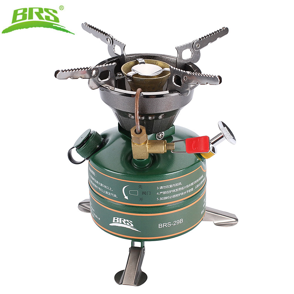 BRS-29B Camping Outdoor Stove Gasoline Stove Simple Oil Stove Non-Preheating Fishing Picnic Furnace Boiler Cooker image