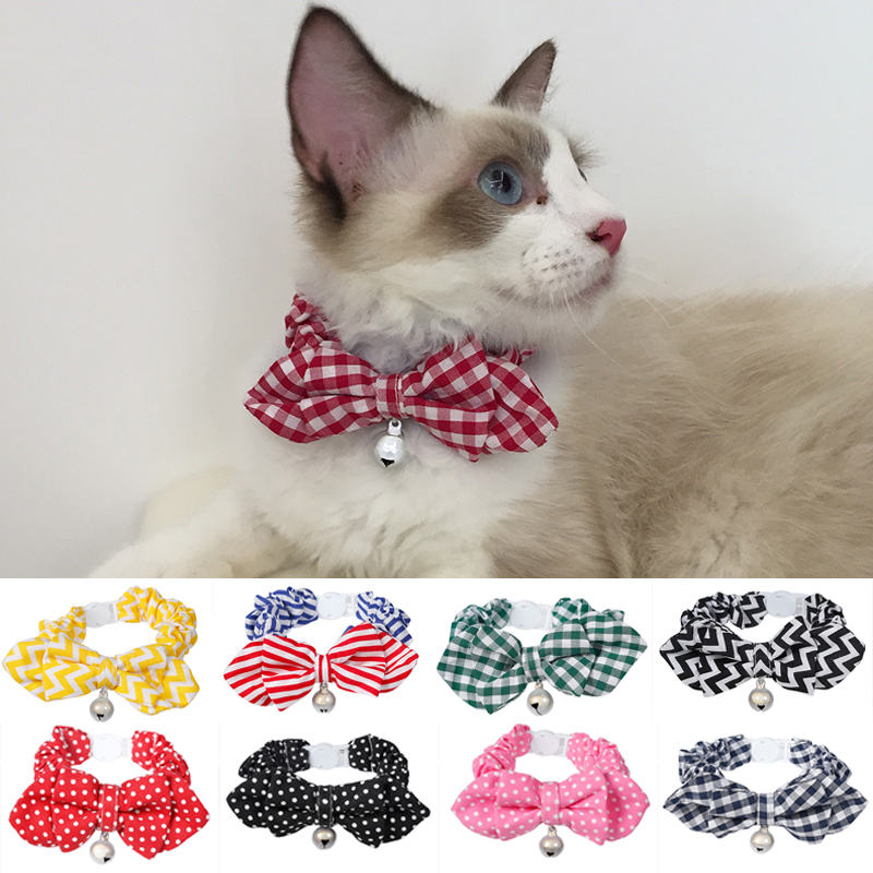 Pet cat collares suministros gato perros pajarita collar 2017 moda - Productos animales