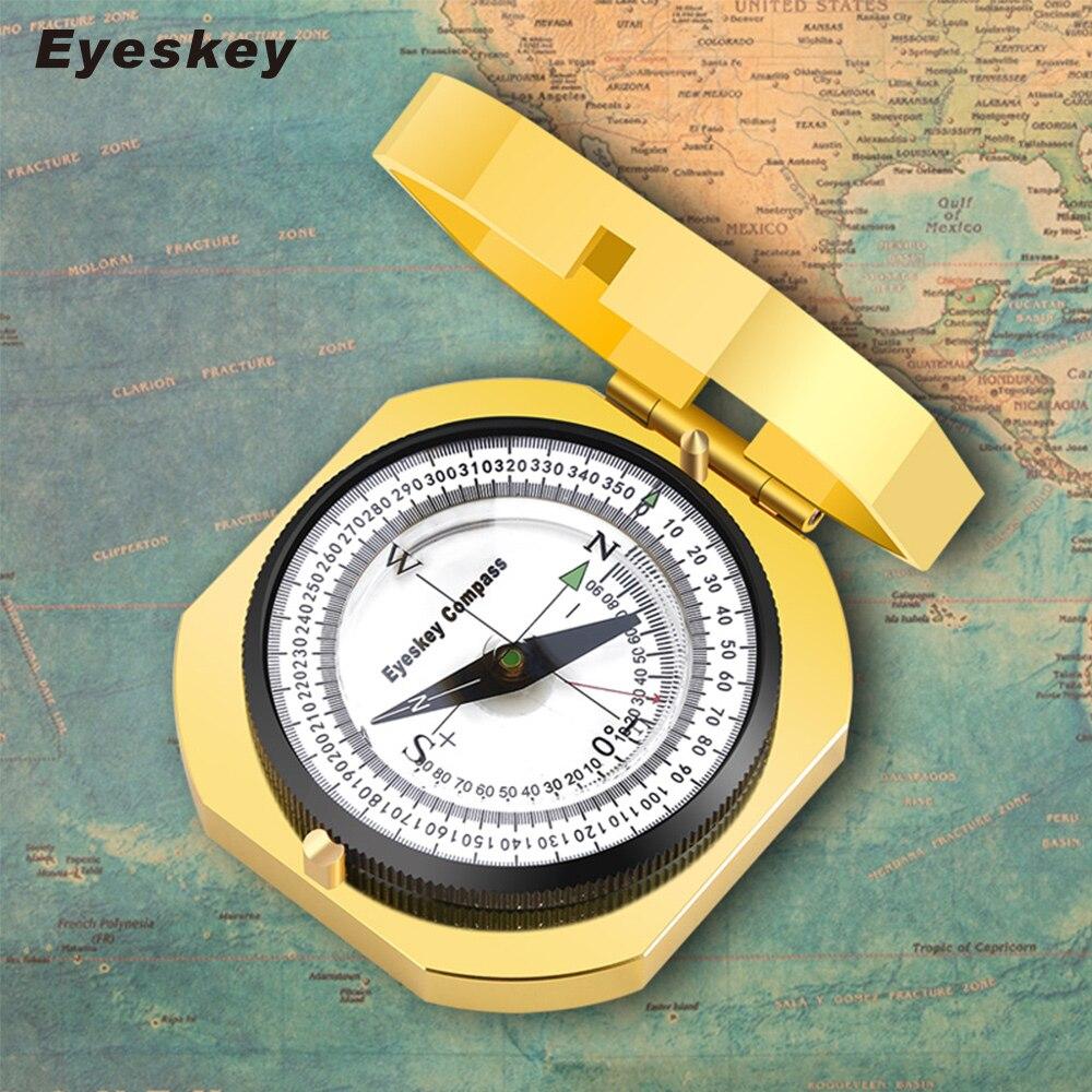 Навигации Металл Золотой компас ручной легкие Охота Кемпинг геологических Карманный компас