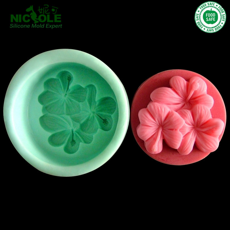 Clover handmade soap mold chocolate mold silicone rubber for molding ...