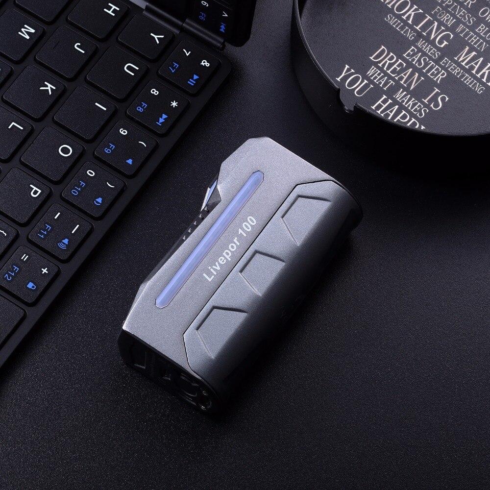 Nouvelle boîte à cigarettes électronique forme originale Livepor 100 w boîte Mod puissance par Singel 21700/20700/18650 TC Mod électronique Vape - 5