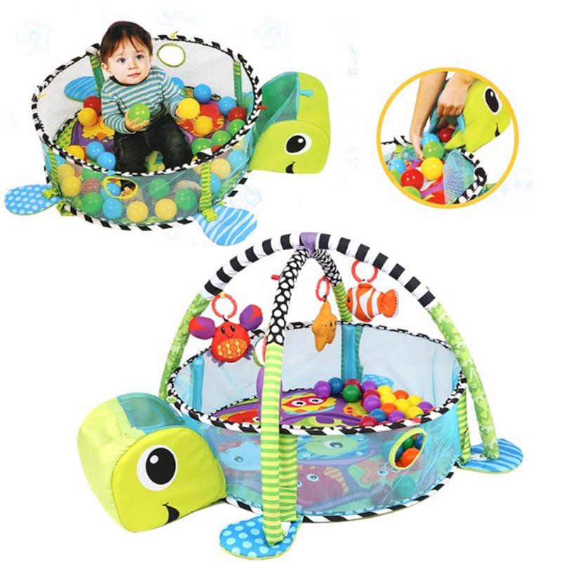 A forma di tartaruga Infantino Coperta Grow-con-Me Activity Gym & Ball Pit Toddlers Gioca Gym Zerbino Pop-up Mesh Lati Strisciare Tappeti