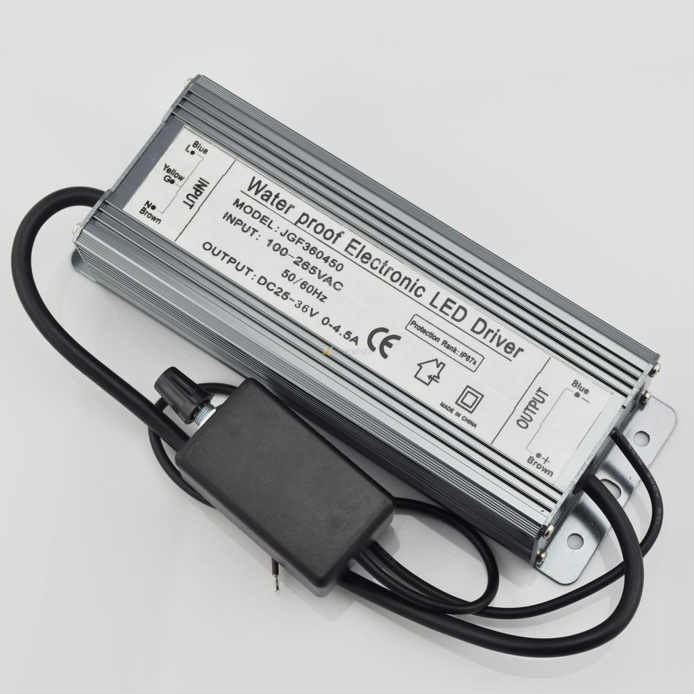 150W Dimmable Constant Current LED Driver IP67 Waterproof  AC to DC25-36V 0-4500mA for 150W High Power LED Light 40w led driver dc140 150v 0 3a high power led driver for flood light street light constant current drive power supply ip65