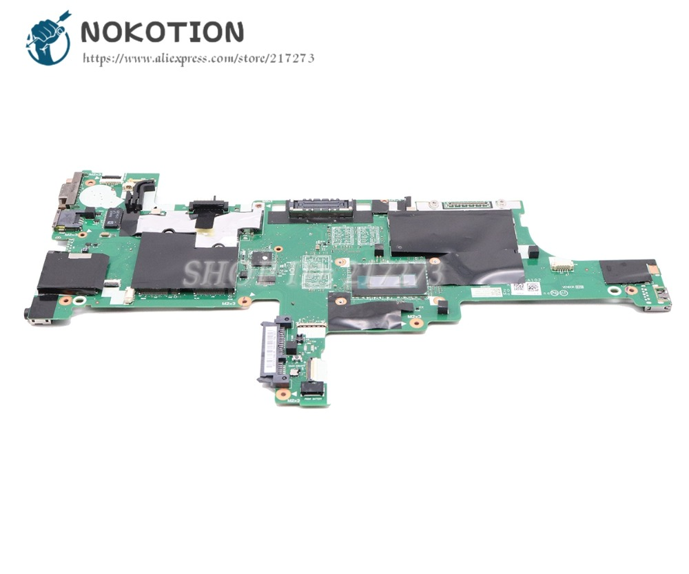 US $193 5 10% OFF|NOKOTION For Lenovo thinkpad T440S Laptop Motherboard I5  4300U CPU VIVL0 NM A102 04X5014 04X5011 MAIN BOARD -in Motherboards from
