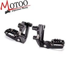 """אופנוע CNC אלומיניום אחורי רגל אחורי סט דום רגליים יתדות דוושת נוסע Rearsets עבור הונדה X עו""""ד X ADV 300 750 1000 17 19"""