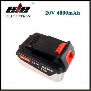 ELEOPTION Rechargeable Power Tool Battery For Black & Decker 20V 4.0 Ah 4000mAh Lithium Ion Battery Pack LB2X4020 LBXR20