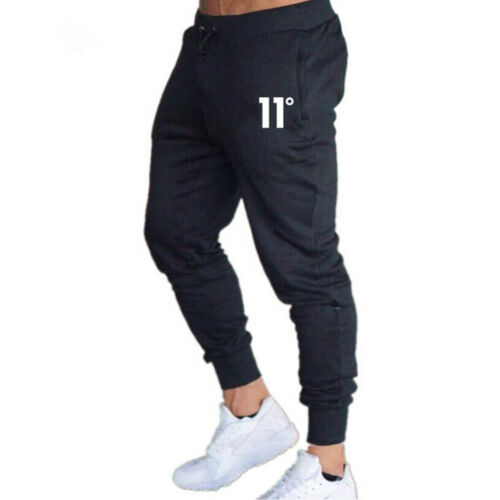 Mens Casual Slim Fit Tracksuit Sports Gym Skinny Joggers Sweat Pants Trousers
