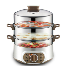 1500w 10l large capacity triple stainless steel electric food steamer