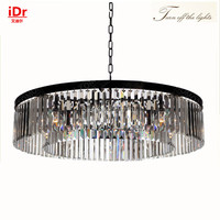 Round Lamps American Country Style K9 Lights Crystal Chandelier IDr 0058