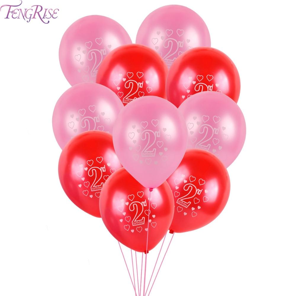 FENGRISE Home Decor Ballonnen Nummer Latex Ballon Voor Bruiloft - Feestversiering en feestartikelen
